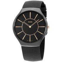 Rado True Thinline Black Dial Ceramic Unisex Watch R27741159