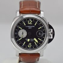 Panerai Stainless Luminor GMT Full Set & Extra Rubber...