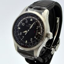IWC Pilot Worldtimer Black Dial Automatic Mens Watch
