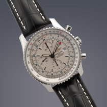 Breitling Navitimer World stainless steel automatic chronograp...