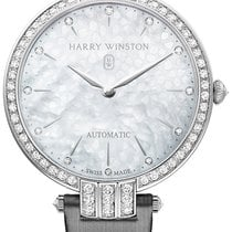 Harry Winston [NEW] Premier Ladies 36mm automatic 18K white...