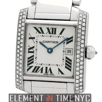 Cartier Tank Collection Tank Francaise Mid-Size 18k White Gold...