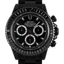 Rolex Used Daytona Black DLC Chronograph Black Sapphire Bezel