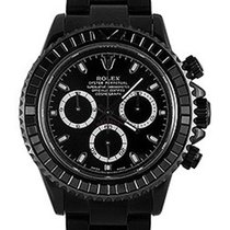 Rolex Used 116520_pvd Daytona Black DLC Chronograph - Black...