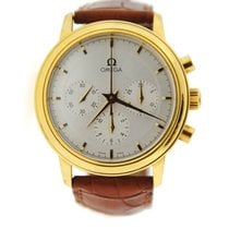 Omega DeVille Prestige Chronograph 18K Yellow Gold