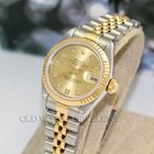 Rolex Datejust Ref 79173 18K Steel Champagne Diamond Dial