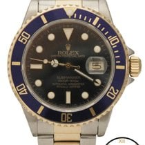 Rolex Submariner Automatic 18K/SS Two Tone Blue 40mm 16803 Watch