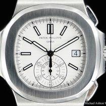 Patek Philippe Ref# 5980/1A, White Dial, Nautilus, Chronograph