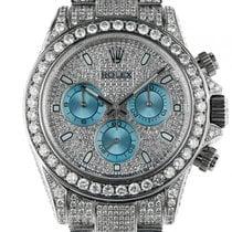 Rolex Daytona Cosmograph Stahl Weißgold Full Diamond 17ct...