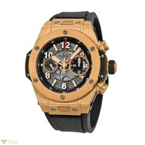Hublot Big Bang Unico 18K Rose Gold Rubber Automatic Chronogra...