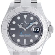 Rolex Dark Rhodium Yacht-Master Men's Stainless Steel...