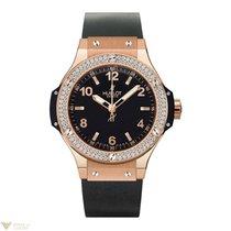 Hublot Big Bang 18K Rose Gold Black Rubber Ladies Watch