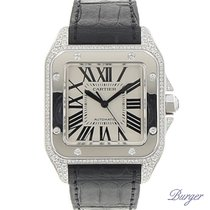 Cartier Santos 100 XL White Gold Original Diamonds