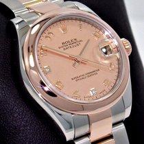 Rolex Datejust 31 178241 Oyster 18k Rose Gold Factory Mop...