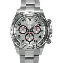 Rolex Cosmograph Daytona 116509 116509-SLV Silver Arabic 18k...