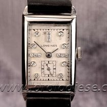 Longines Tank Sertie Diamond Dial Vintage Steel Watch Cal. 9l