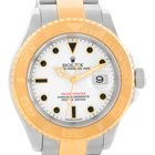 Rolex Yachtmaster Steel 18k Yellow Gold White Dial Mens Watch...