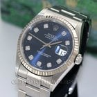Rolex Datejust 16234 Stainless Steel Blue Diamond Dial