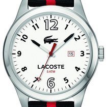 Lacoste Auckland Steel Mens Fashion Strap Watch White Dial...