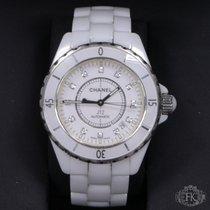 Chanel J12 | original chanel diamond dial | white ceramic |