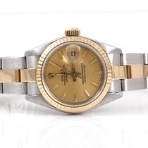 Rolex Ladies 18K/SS Datejust - Champagne Dial - Oyster Band -...