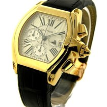Cartier W62021Y3 Roadster Chronograph in Yellow Gold - on...