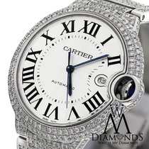 Cartier Original Pave Diamonds Ballon Bleu 42mm W69012z4 Roman...