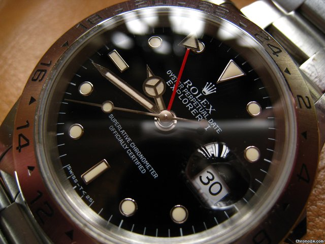 Rolex 16570 N3-series Patina Tritium Marker Explorer II