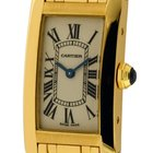 Cartier Tank Collection Tank Americaine 18K Yellow Gold Ladies...