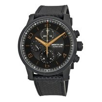 Montblanc Timewalker Chronograph Black and Grey Dial Black...