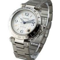Cartier W31029M7 Pasha C GMT - Silver Dial on Bracelet