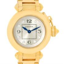 Cartier Miss Pasha Small 18k Yellow Gold Diamond Watch Wj124015