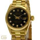 Rolex Lady DateJust 18K.Gold mit Diamanten Ref.6917