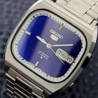 Seiko 5 Mens Large Vintage Japanese Day Date Automatic Rare...