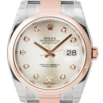 Rolex DateJust 36mm Steel and Rose Gold Pink/Diamond Oyster...