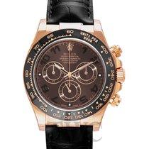 Rolex Daytona Chocolate 18k Rose Gold/Leather Ø40mm - 116515LN