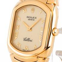 Rolex Cellini Quarz 18kt Gold an Lederband Ref.6631