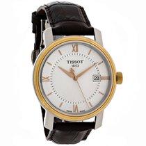 Tissot Bridgeport Mens Brown Leather Strap Swiss Quartz Watch...