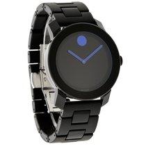 Movado Bold Mens Black/Blue Dial Swiss Quartz Watch 3600099