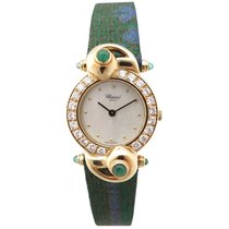 Chopard 441815.899 23 mm en or diamants emeraude quartz watch