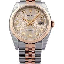 Rolex Datejust 36 Pink Jubillee Dial DIA Fluted Jubilee...