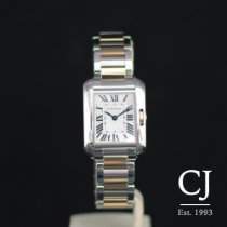 Cartier Tank Anglaise Steel & Rose Gold Small / Ladies
