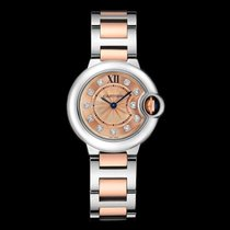 Cartier WE902052 Ballon Bleu Rose Gold Diamond 28mm