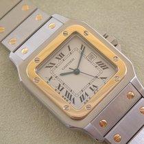 Cartier Santos Automatik Stahl / Gold Herrengröße TOP Zustand