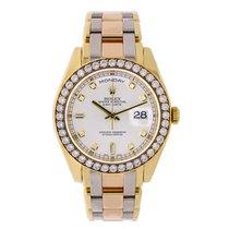 Rolex Day-Date 36 Tridor Masterpiece 18K Gold Watch Diamond Bezel