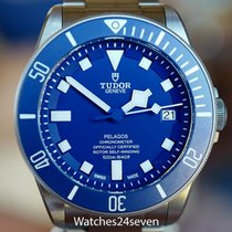 Tudor Pelagos Auto Titanium Blue Dial 42mm on bracelet