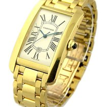 Cartier W26031K2 Large Size - Tank Americaine - Yellow Gold on...
