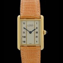 Cartier Tank Vermeil - Ref.: 590005 - Goldplaque - Box/Papiere...