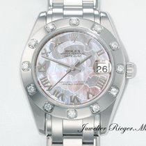 Rolex Datejust Pearlmaster 34 mm 81319 Weissgold 750 Diamanten