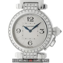 Cartier Pasha Collection Pasha 18k White Gold Diamond Bezel...